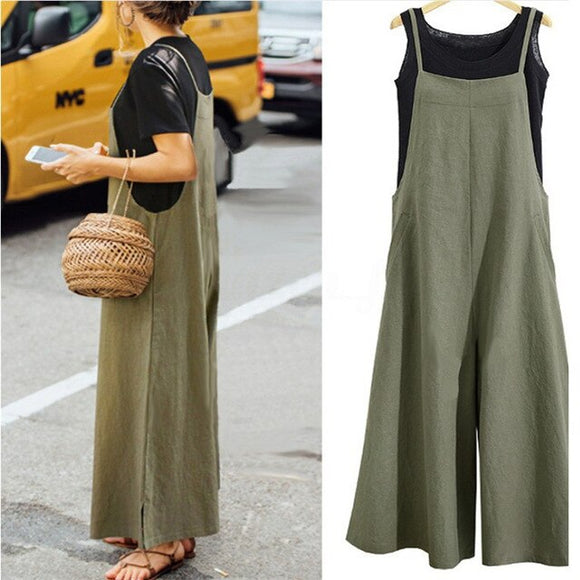 Summer Ladies Casual Jumpsuit