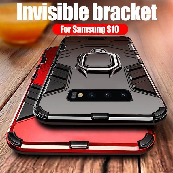 Luxury Bracket Ring Holder Ultra Slim Shockproof Case For Samsung Galaxy S10e S10Plus Note 9 8 S9 S8 S7 S6 Edge Plus