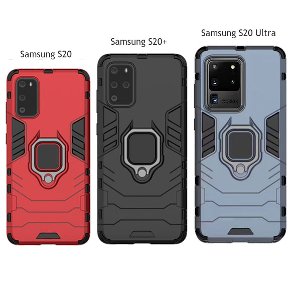 Luxury Armor Shockproof Ring Bracket Case For Samsung S20/Plus/A20S/S10/Plus