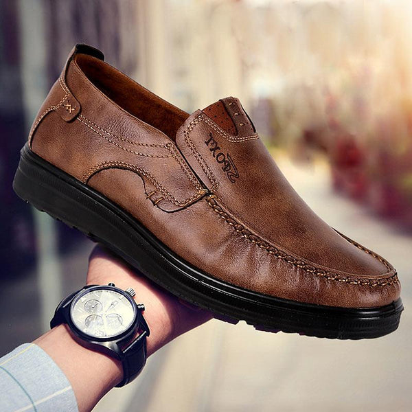 Men Fashion Leather Driving Shoes