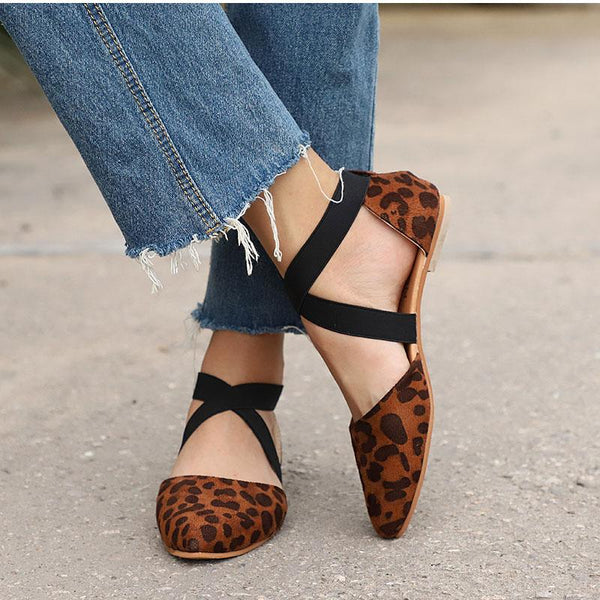 Cross Strap Comfortable Flat Casual Shoes