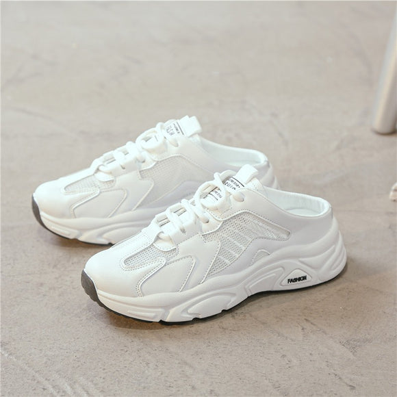 Women's White Mesh Sneakers