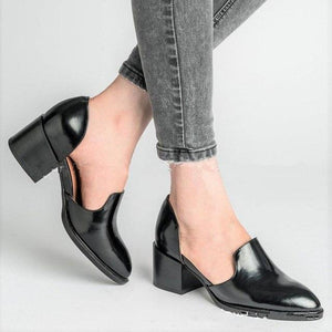 Women's Shoes - Spring Chunky Heel Casual Loafers Slip On Shoe