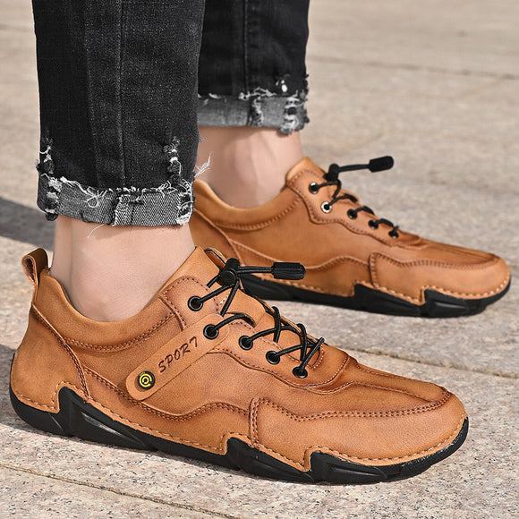 Spring Autumn Men's Split Leather Casual Shoes