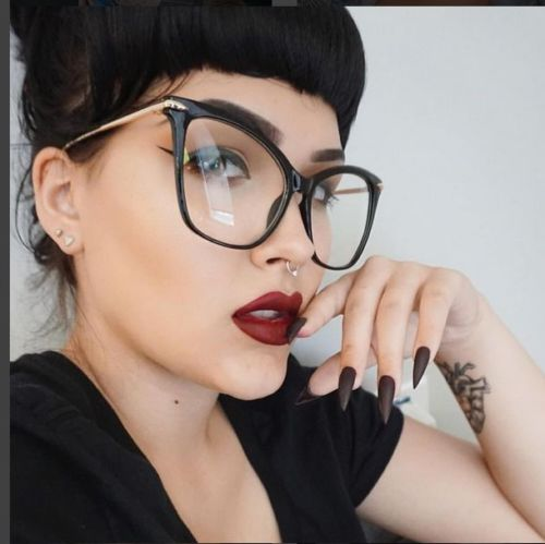 Women Sexy Oversized Metal Frame Brand Designer Optical EyeGlasses