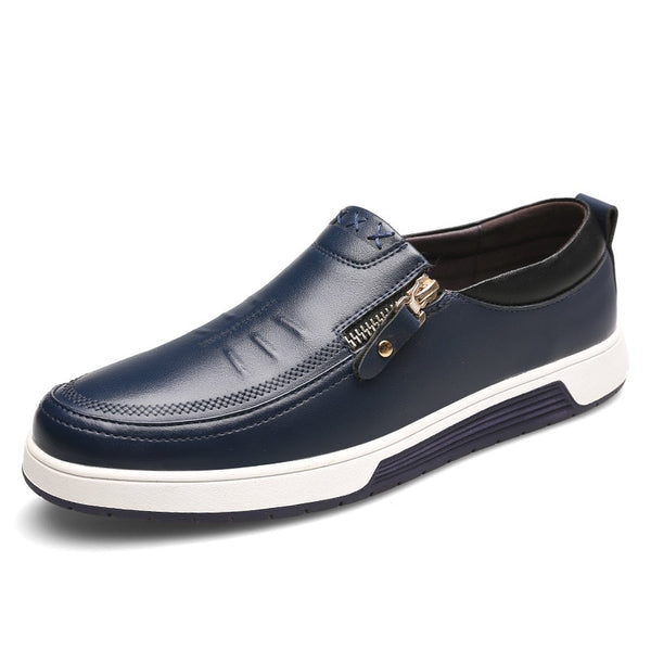 Yokest Men Casual Soft Patent Leather Shoes