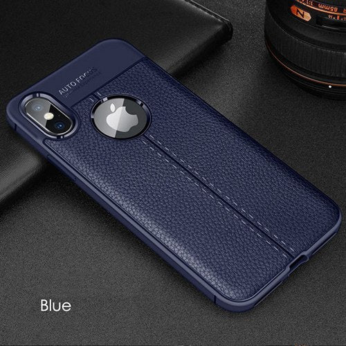 Hybrid Full Ultra Thin Shockproof Leather Texture Case For IPhone X XS Max XR 6 6s 7 8 Plus