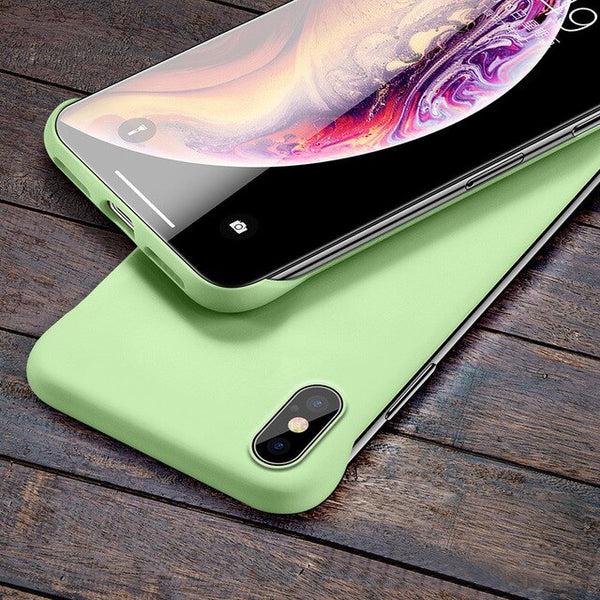 Luxury Slim Matte Borderless Shockproof Business Protect Case For IPhone X XS Max XR 6 6s 7 8