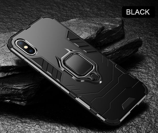 Luxury Bracket Ring Holder Ultra Slim Armor Shockproof Case For iPhone X XR XS Max 8 7 PLUS