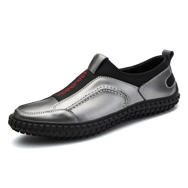 Men's Shoes - Classy Silver Light Comfortable Casual Shoes