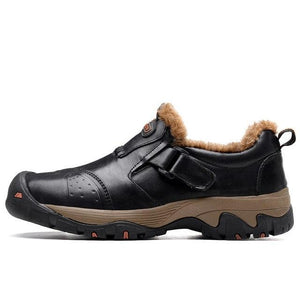 Men's Shoes - Brand Luxury Winter Genuine Leather Hiking Warm Outdoor Trekking Boots