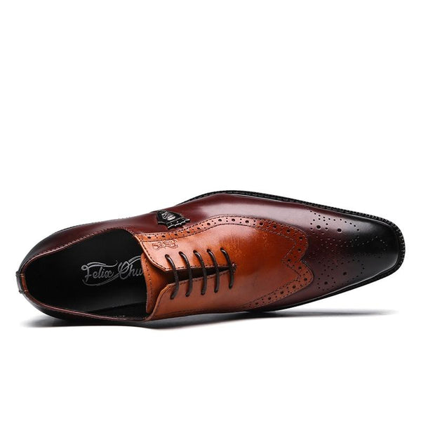Luxury Classic Brogue Oxfords Dress Shoes