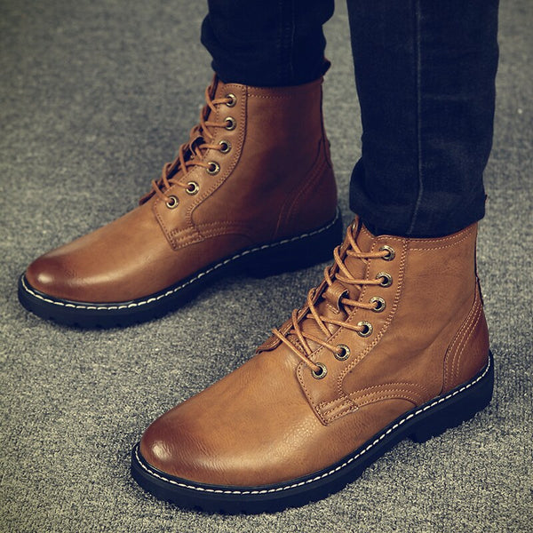 Fashion Genuine Leather Casual Boots