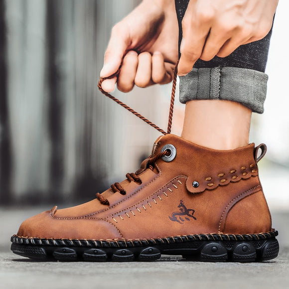 Men's Comfy High Quality Durable Leather Boots