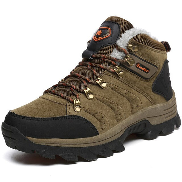 Men's Shoes - Men Warm Plush Waterproof Hiking Shoes Snow Boots