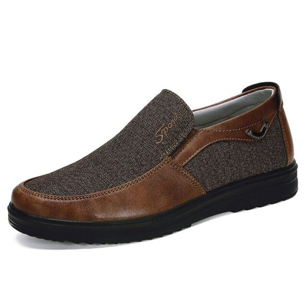 Large Size Men's Comfortable Flat Slip On Shoes