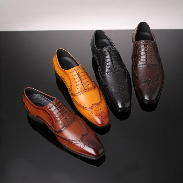 Shoes - Fashion Men Pointed Toe Dress Shoes