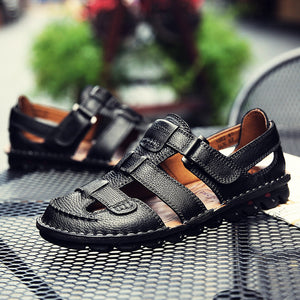 Men Handmade Genuine Leather Soft Sandals