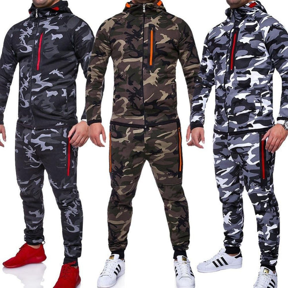 New Camouflage Printed Men Sportswear Set