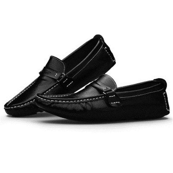 Shoes - Men Genuine Leather Loafer Boat Shoes