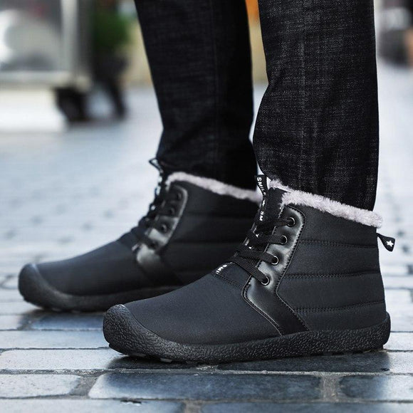 Yokest Mens Waterproof Warm Fur Ankle Boot(Buy 2 Get 10% OFF, 3 Get 15% OFF )