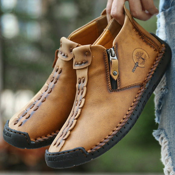 Men Vintage Leather Ankle Boots(Buy 2 Get 10% off, 3 Get 15% off )