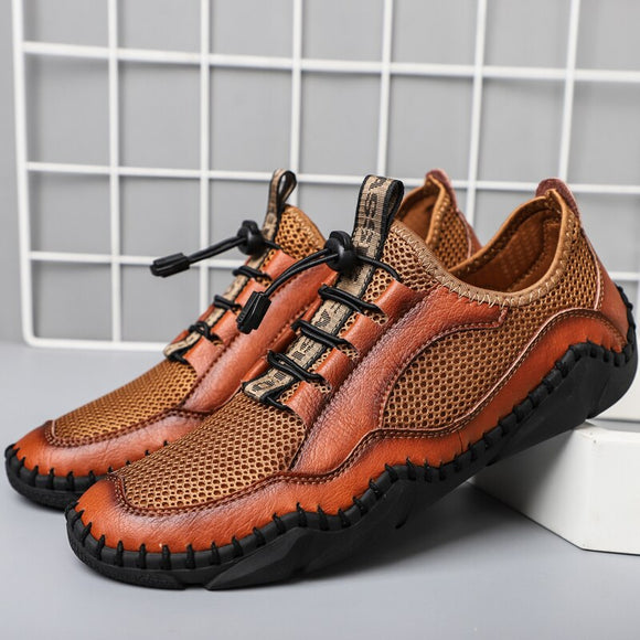 2021 New Men's Breathable Leather Sandals