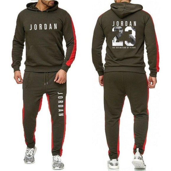 Men's Fashion Hoodies Sportswear Set