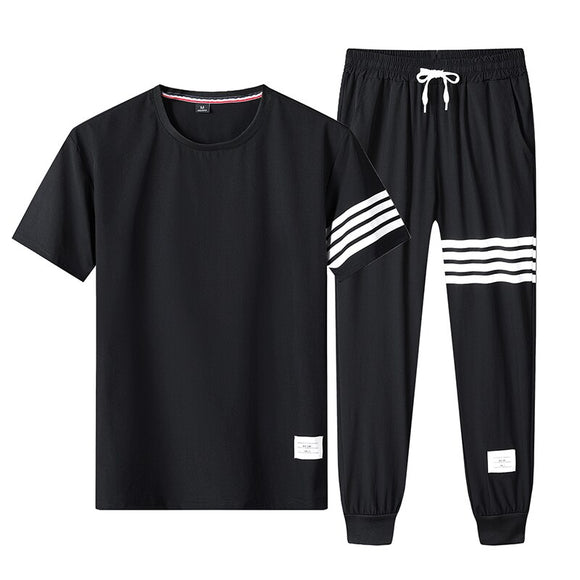Summer Men T Shirt Shorts Sets