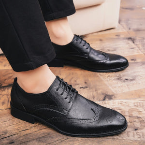 Shoes - New Fashion Cow Leather Oxford Business Comfort Pointed Toe Flats Shoes