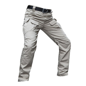 Men Multi-pocket Waterproof Stretch Work Trousers