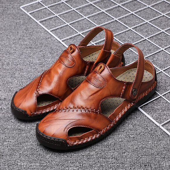 Men Casual Outdoor Soft Leather Sandals