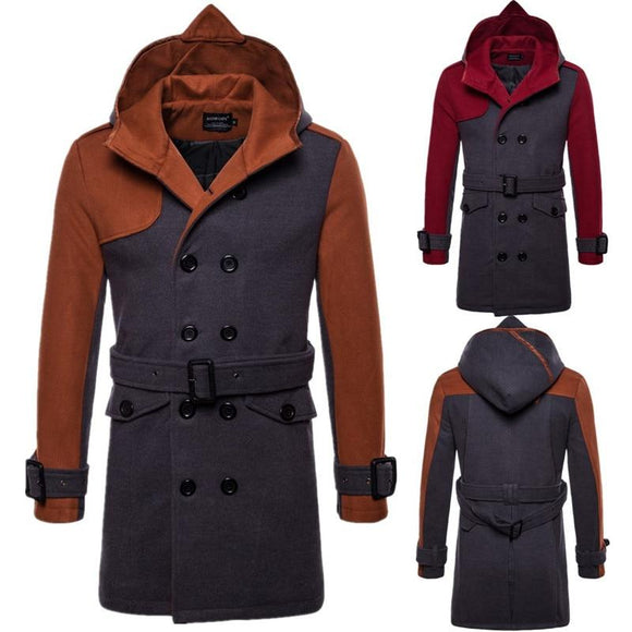 Fashion Thicken Stitching Color Men Jackets