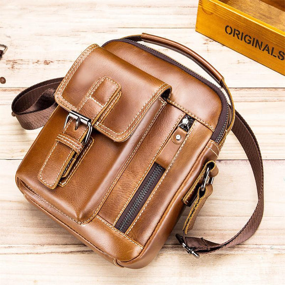 Retro Cow Leather Leisure Shoulder Bags