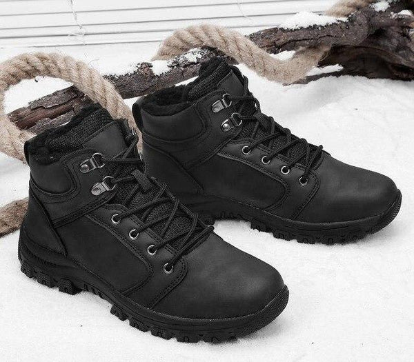 New Warm Winter Fur Rubber Ankle Boots