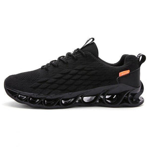 Blade Fashion Mesh Men Lace Up Breathable Wave Sole Sneakers