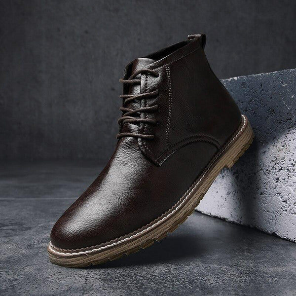 New Microfiber Mens Ankle Boots