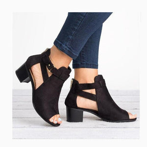 Casual Classic Fish Mouth Hollow Out Platform Shoes
