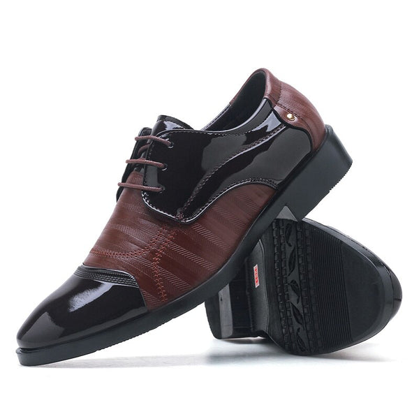 Men's Shoes - Casual Men's Comfortable Luxury Soft Leather Oxford Business Dress Shoes