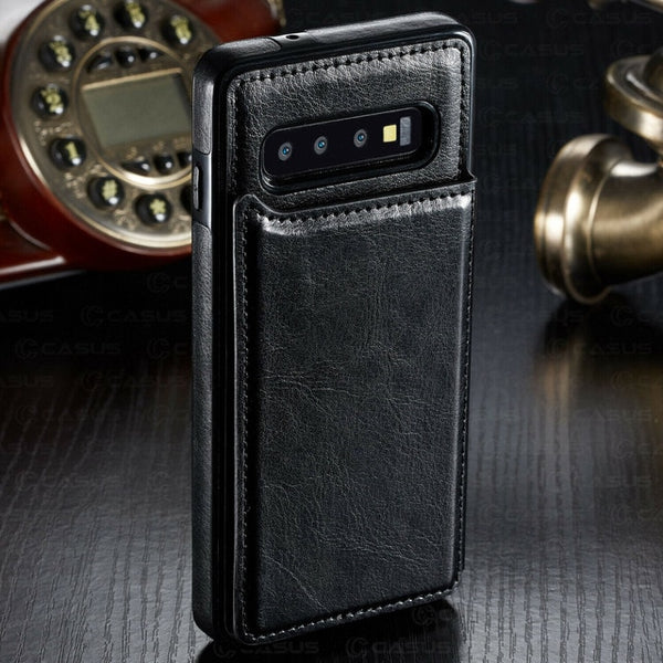 Luxury Shockproof Leather Wallet Magnet Flip Case For Samsung Note 10 pro S10 plus S10 lite S10
