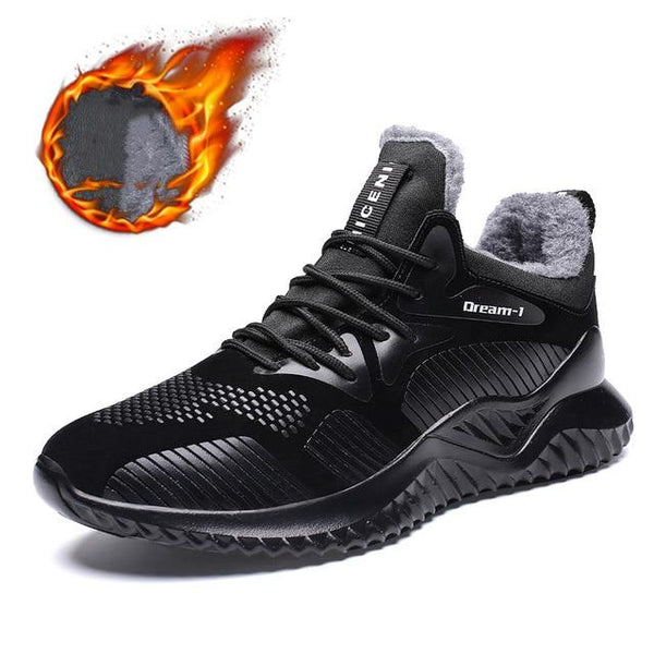 Shoes - Mens Plush Warm Running Sneakers