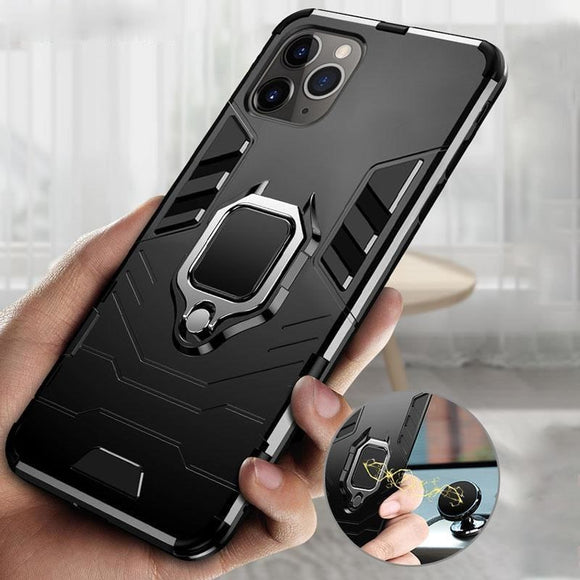 Metal Magnetic Ring Armor Case For iPhone 12 Pro