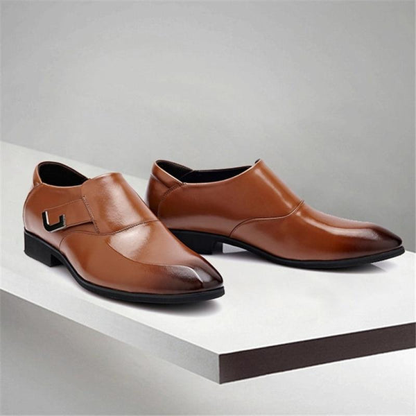 Men's Shoes - Fashion Leather Round Toe Dress Shoes