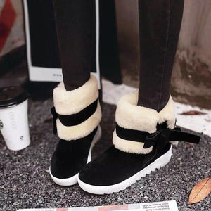 Clearance Sale Cute Comfortable Warm Folding Tube Fur Snow Boots