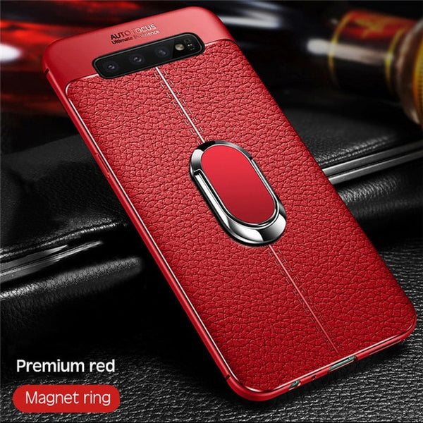 Luxury Shockproof Ultra Thin Soft Silicon Anti-knock Phone Case + Strap +Holder For Samsung Note10 Note10 Plus S10 S10Plus S10E Note 9/8 S9 S8/Plus