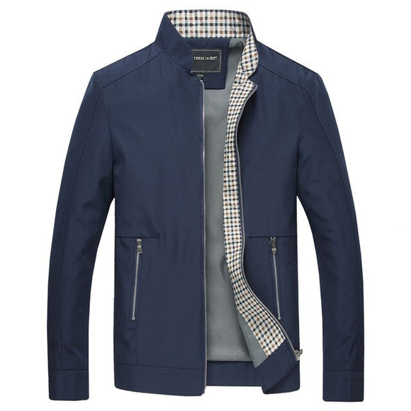 Men Fashion Stand Collar Business Jackets(Buy 2 Get 10% off, 3 Get 15% off )