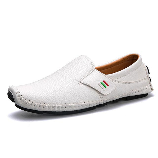 Men's Shoes - Italian Fashion Comfortable Slip On Flat Driving Boat Shoes