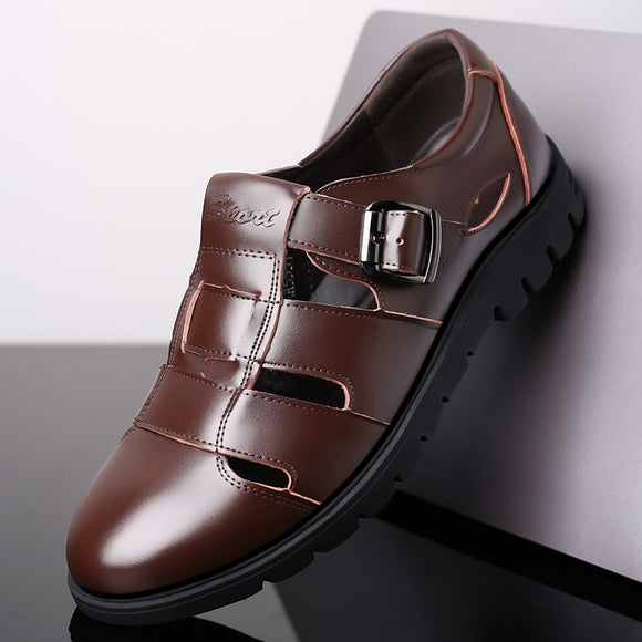 Summer Mature Leather Men Sandals