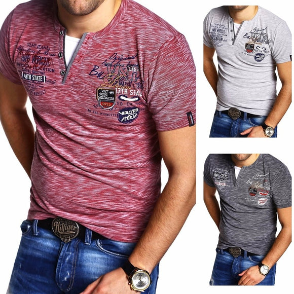 Summer Men's V Neck T-Shirt