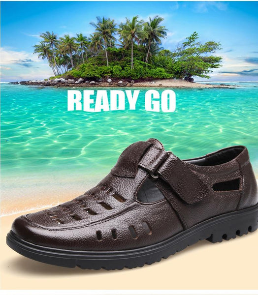 Men Fashion Leather Sandals Dress shoes
